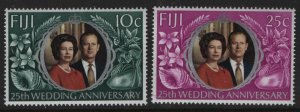 FIJI  328-329 MNH SILVER WEDDING SET 1972
