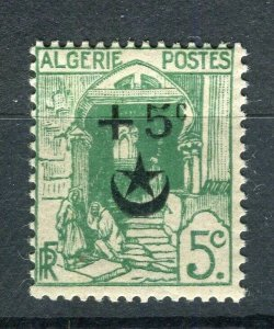 FRENCH; ALGERIA 1927 Wounded Soldiers issue fine Mint hinged 5c. value