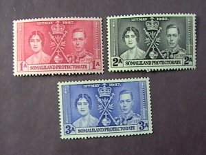 SOMALILAND PROT. # 81-83-MINT NEVER/HINGED-----COMPLETE SET------1937