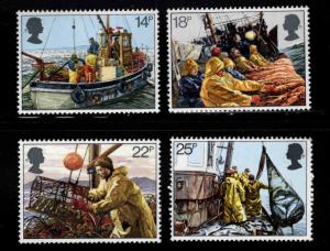 Great Britain Scott 956-959 MNH** Commercial Fishing set