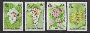 Ascension  381 - 384 (SG 389/92) Flowers - MNH - VF - CV$3.70