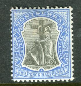 MONTSERRAT; 1903 early Ed VII issue fine Mint hinged 2.5d. value