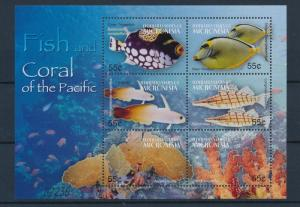 [34911] Micronesia 2004 Marine Life Coral Fish MNH Sheet