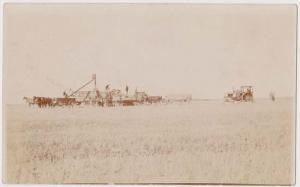 Canada Unused 1915 Post Card  Showing Farmer's Horses & Machinery Harvesting