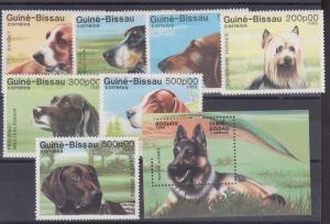 Guinea-Bissau Sc 742-479 MNH. 1988 Dogs + Souvenir Sheet, XF