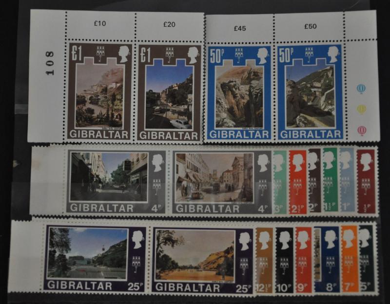 DYNAMITE Stamps: Gibraltar  Scott #241-272 - MNH