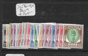MALAYA KEDAH (P0705B)  SET TO $5.00  SG 76-90  MOG