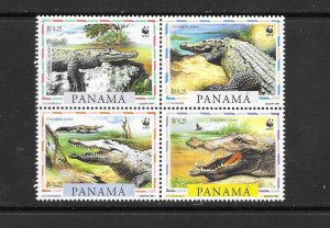 CROCODILES - PANAMA #846  WWF  MNH