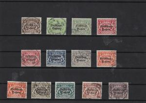 bavaria 1919 officals used stamps cat £100+ ref 7113