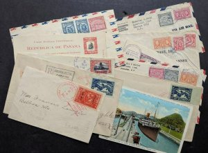 EDW1949SELL : PANAMA Collection of 10 covers & 3 Post cards. Very interesting.