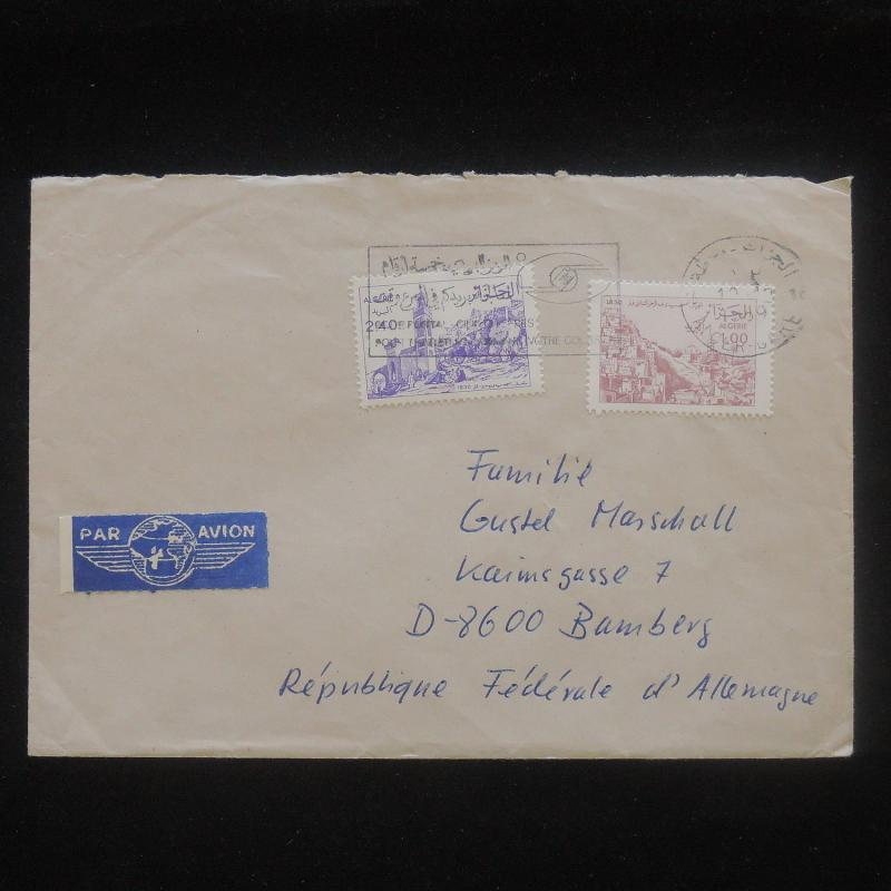 ZS-P547 ALGERIA IND - Cover, Great Franking 1989