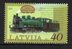 Latvia Sc 766 2010 Stean Locomotive stamp mint NH