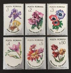 Romania 1986 #3380-5(6), Flowers, MNH.