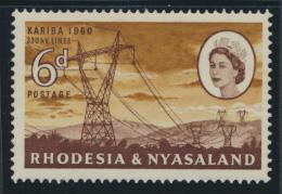 Rhodesia & Nyasaland SG 33 Sc# 173  MH see details Hydro Electric Scheme