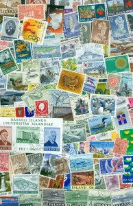 Iceland.  Lot. 150 Different With Cancel. LH.