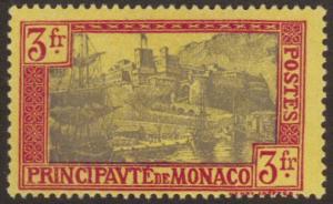 Monaco #90 MH(thin) 3fr high value - ships