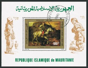 Mauritania 460,CTO.Michel 690 Bl.28. Paintings by Rembrandt,1980.Horse.