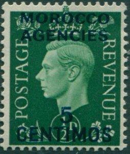 Morocco Agencies 1937 SG165 5c on ½d green KGVI MLH