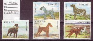 IRELAND SC# 563-567 DOGS DRAWINGS BY WENDY WALSH -MNH