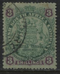 Rhodesia 1896 3/ CDS used  (JD)