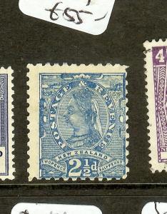 NEW ZEALAND (P0308B) QV 2 1/2D  SG239   M0G
