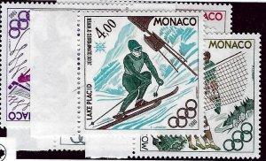 Monaco SC#1221-1226 MNH VF...Worth a Close Look!