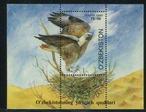 Uzbekistan 1999 Sc 196 Birds Buzzard Hawk CV $4