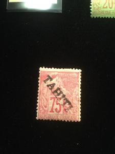 Tahiti Scott #15 Mint Hinged With Gum Scarce!