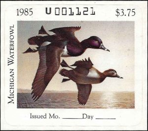 MI10 Mint,OG,NH... State Duck Stamp.. SCV $25.00