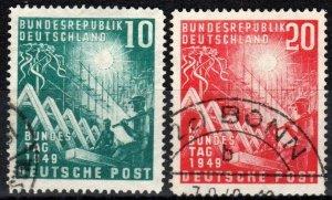 Germany #665-6 F-VF Used CV $34.00 (X6899)