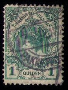 Netherlands Sc #83a Used 1898 Wilhelmina 1g Kroningsgulden type I F-VF