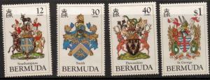 BERMUDA SG482/5 1984 COATS OF ARMS MNH