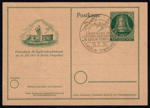 Germany-Berlin Mi P24 Postal Card FDC (MCV 25 Euro)
