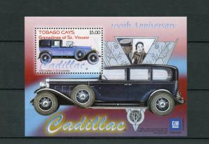 Tobago Cays Grenadines Vincent 2003 MNH Cadillac 100th Anniv 1v S/S Cars Stamps