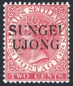 Malaya Sungei Ujong 1886 2c Rose Wmk CA SG 41 Scott 26A LMM/MLH Cat £110($147)