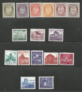 NORWAY, 709-724, MH, POST HORN SCENIC