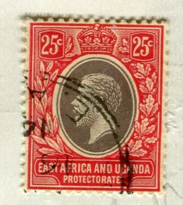 BRITISH KUT; 1912 early GV issue fine used 25c. value