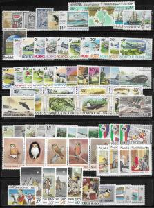 Norfolk Is. lot of 78 mint & used stamps 2017 SCV $69.95 - avg cv of 83¢ each