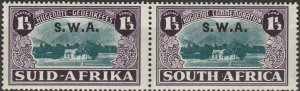 South West Africa, # B11 MH  Pair,  from 1939, hinge remnant