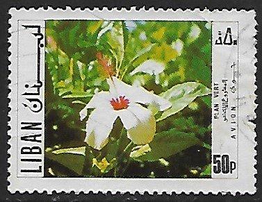 Lebanon # C634 - Hibiscus - used....{BLW9}