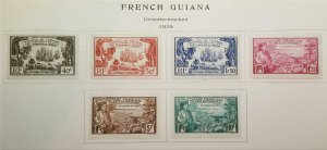 FRENCH GUIANA 1935 Scott 156-161 Stamp Set MLH OG T615