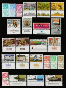 Israel a small MNH lot from about 1983 all with tabs