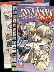 CELEBRATE THE CENTURY SUPER HEROES STAMP ALBUM, BOOK III 1920-1929 WITH STAMPS