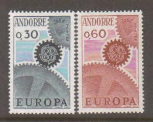 French Andorra #174-5 Mint Europa