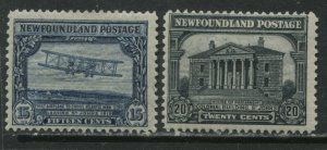 Newfoundland 1931 Re-engraved 15 cents and 20 cents mint o.g. hinged