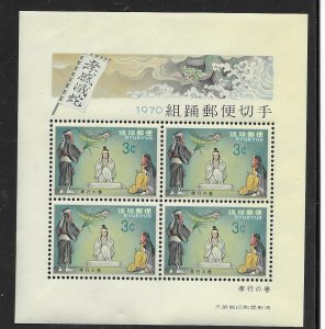 Ryukyu  199a  1970 s/s 4  VF NH