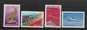 TRINIDAD & TOBAGO, 162-165, MNH,CARIBBEAN FREE TRADE AREA
