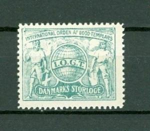 Denmark Poster Stamp Mnh.Old  IOGT  Grandlodge Order Templars