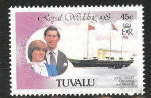TUVALU Scott 159 MNH** 1981 Royal wedding yacht stamp