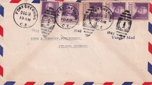 US CANAL ZONE STAMP COVER, LETTER, PC, COLLECTION LOT #S12